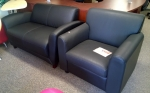 LLR 68951 BONDED LEATHER LOVESEAT