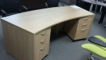 IOF C35361 CUSTOM DESK W/MOBILE PEDS