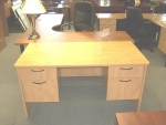 IOF 6030D/BF/BF DBL PED DESK - CANDLELIGHT