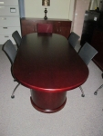 M49642RH WOOD VENEER RACETRACK CONFERENCE TABLE