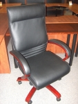 MAYLINE CS EXECUTIVE CHAIR W/WOOD - SIERRA CHERRY
