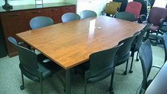 IOF SBOCB84 BOAT-SHAPED CONFERENCE TABLE