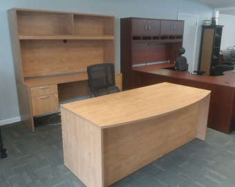 IOF BOW FRONT DESK SHOWROOM SAMPLE