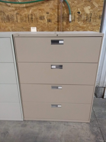 PRE-OWNED HON 694LK 4-DRAWER LATERAL FILE
