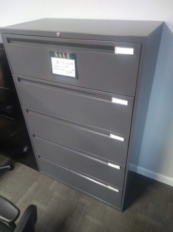 PRE-OWNED  INSCAPE 5-DRAWER  LATERAL FILE      NINE AVAILABLE!!!