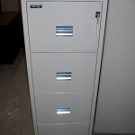 FIREPROOF PRE-OWNED LEGAL SIZE 4-DRAWER FILE