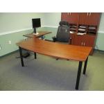 Custom Bow Front Desk68)