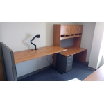 Accounting office with electric height workstation