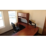 Executive desk with gabled hutch