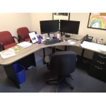 SACO PD ELECTRIC HT. CORNER WORKSTATION INSIDE VIEW
